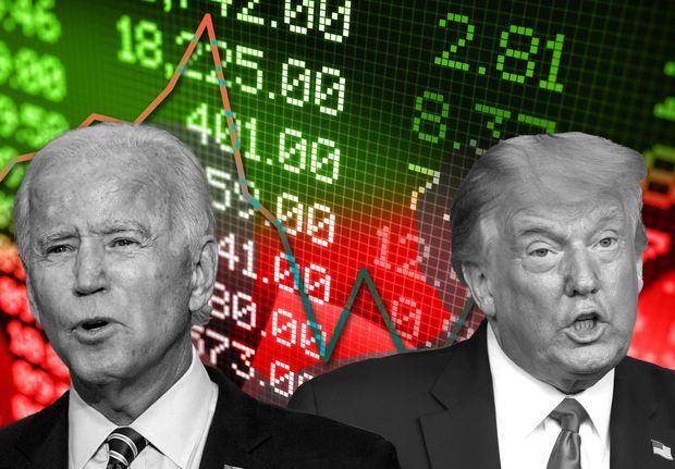 U.S Markets Post Gains as Trump Takes on Biden in Polls