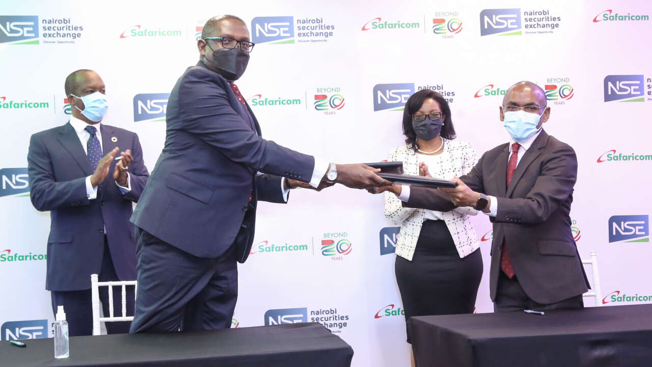 Safaricom Partners with NSE to Enable Customers Buy Shares Using Bonga Points.